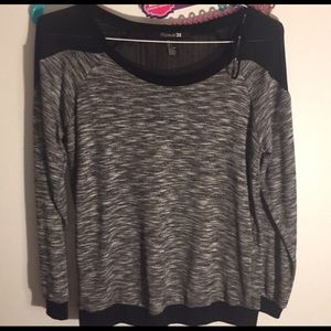 Forever 21 Tops - ❄️2 for $25 sale❄️ Forever 21 Mesh Knit Blouse